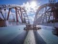 На Керченском мосту начали строить железную дорогу