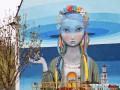 Огромное граффити на Андреевском спуске могут закрыть новым зданием