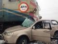 ДТП под Киевом: поезд протащил авто 200 метров