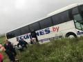 Под Киевом автобус с детьми вылетел в кювет