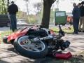 В Днепре мотоцикл врезался в маршрутку