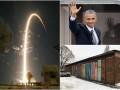 День в фото: Обама в Германии, запуск космического корабля РФ и гаражный мурал в Ирпене