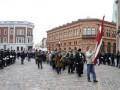В Риге проходит шествие бывших солдатов СС. Площадь в центре города оцеплена полицией