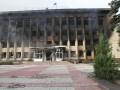 Освобожденный Дзержинск: горадминистрацию сожгли сепаратисты  (видео)