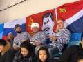 Россияне на Олимпиаде вывесили флаг со Сталиным
