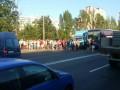 Киевляне перекрыли Харьковское шоссе из-за отсутствия света