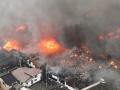 В Японии в одном из городов пожар охватил целый квартал