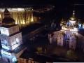 Пасхальную ночь в Киеве показали с высоты птичьего полета