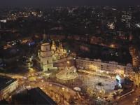 В Сети показали рождественский Киев с высоты птичьего полета