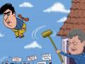 Саакашвили против Порошенко: карикатуры на последние события