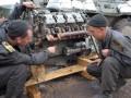 Харьковские курсанты принимают участие в АТО: ремонтируют военную технику