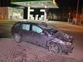 В Киеве Volkswagen протаранил Fiat и перевернулся на крышу