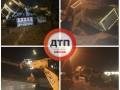В сети показали, как в Киеве ушел под землю грузовик