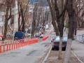 В Киеве вандалы уничтожили только что установленные делиниаторы