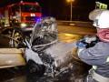 В Киеве возле ТРЦ сгорел Hyundai