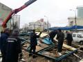 В Киеве снесли 15 незаконных сооружений