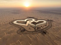 В Дубае появилось Озеро любви в виде двух сердец