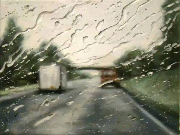 Сверхреалистичные рисунки дождя – Френсис МакКрори