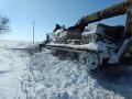 В Одесской области расчистить дороги от снега помогла военная техника
