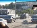 В Севастополе внедорожник влетел в автобус: 14 пострадавших