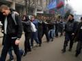 Задержанных ночью парней провели Маршем позора по Майдану (ВИДЕО)