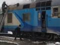На Волыни дизель-поезд загорелся с