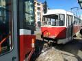 В Харькове столкнулись два трамвая