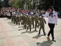 В России детсадовцев вывели на парад