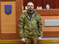 В Бердянске простились с убитым ветераном АТО Сарматом