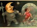 Странные новогодние открытки из прошлого столетия