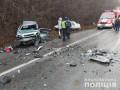От удара вырвало двигатель: Под Харьковом разбились четыре машины