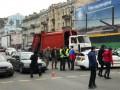 В центре Киева задержали мужчину с флагом России