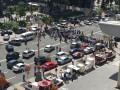 Продавцы шаурмы перекрыли дорогу на Крещатике