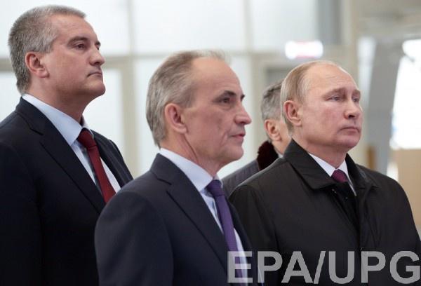 Путин со своими ставленниками в Крыму 14 марта 2018 года