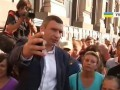 Кличко пообщался с активистами на Майдане