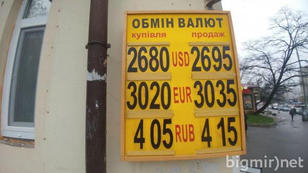 На черном рынке Украины доллар можно купить по 26,95 грн
