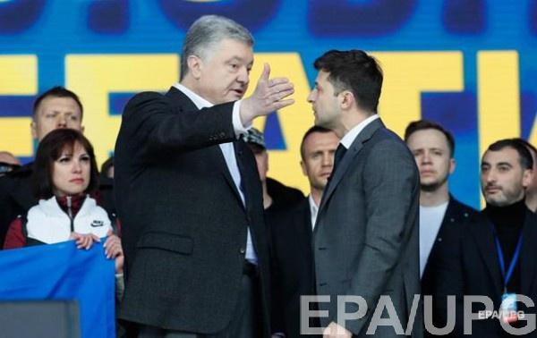 Порошенко и Зеленский встретились на дебатах