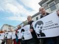 Под посольством РФ в Киеве требовали освободить журналиста Сущенко