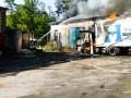 На Тернопольщине потушили грузовик на складе и спасли еще пять машин