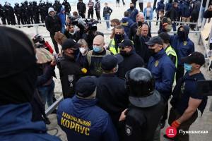 """В Одессе """"Нацкорпус"""" подрался с полицией"""