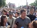 Около 200 сторонников Свободы пришли проверить, все ли участники гей-парада в Киеве разошлись