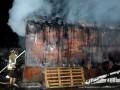 В Днепропетровске огонь уничтожил 100 кв м складов