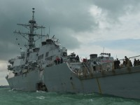 Столкновение эсминца США с танкером: ВМС начали расследование
