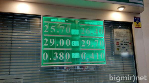 Утром, 21 июня, доллар можно купить в обменниках по 26,4 грн/долл