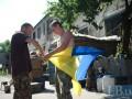 В Авдеевке подняли государственный флаг на телевышке