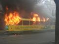 В центре Одессы горел трамвай, люди в панике били окна
