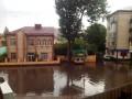 Мощный ливень превратил Ровно в город на воде