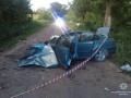 Под Тернополем Volkswagen врезался в дерево: двое погибших