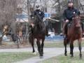 Со столичной набережной убрали конную полицию из-за фекалий