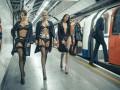 В лондонском метро прошел модный показ нижнего белья